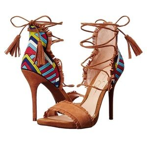 Jessica Simpson Basanti Gladiator Tan Sandals 9M